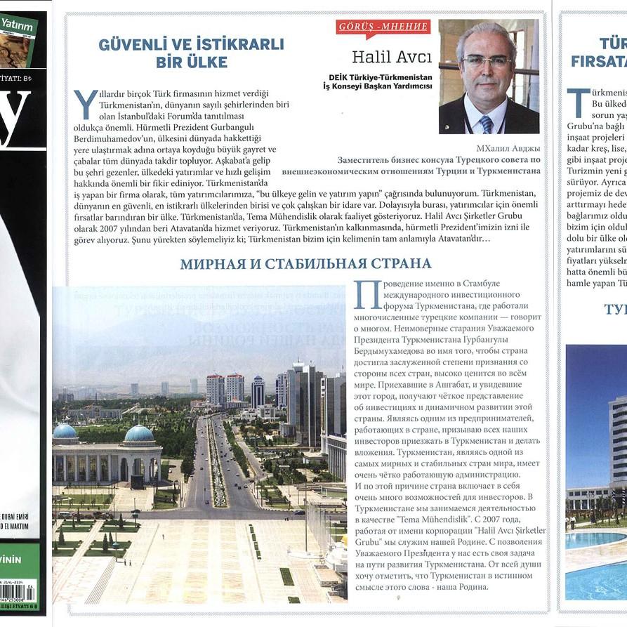 Türkmenistan da Yatırım İmkanları