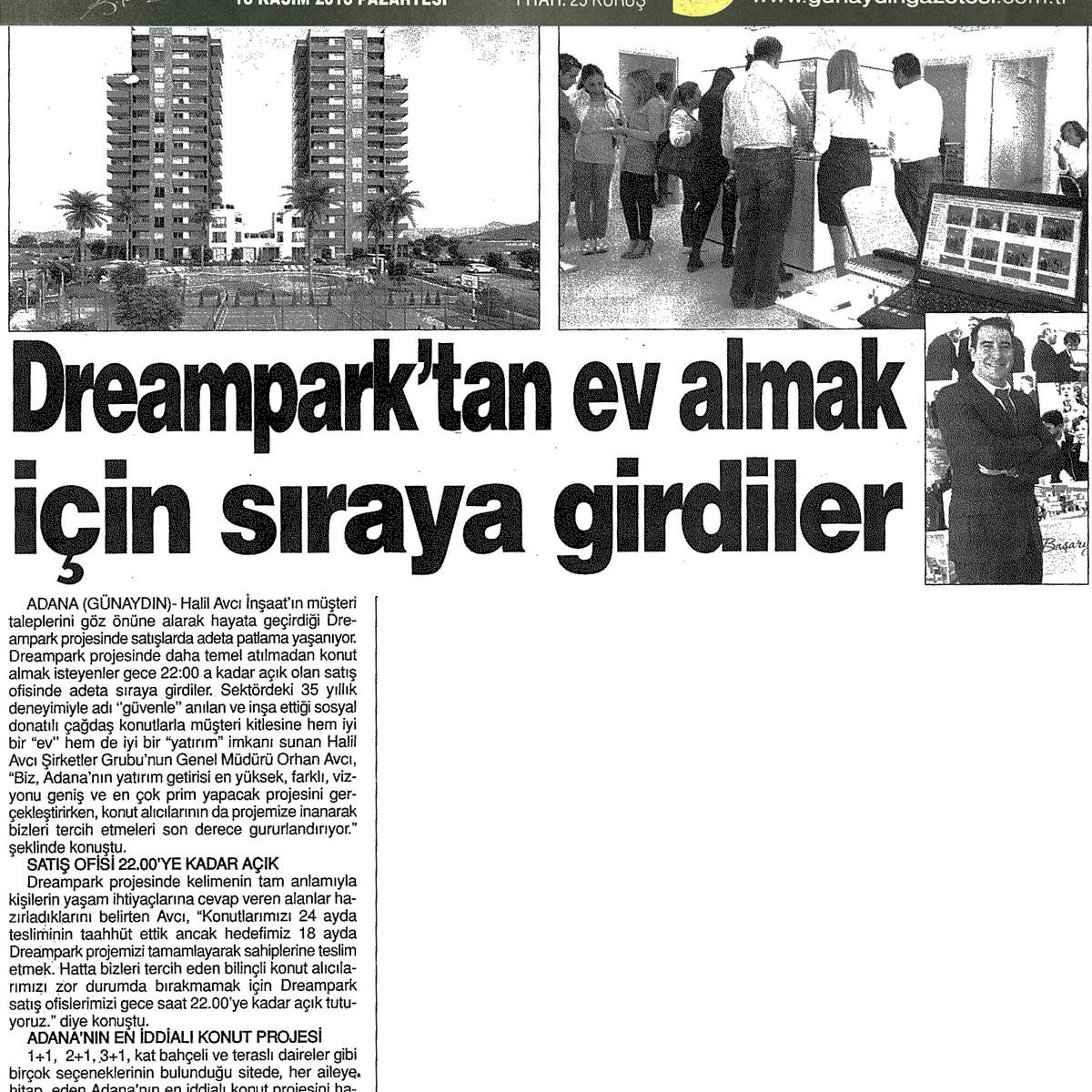 Dreampark'tan ev almak için sıraya girdiler – Günaydın