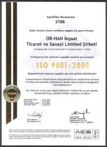 OR-HAN ISO 9001:2008