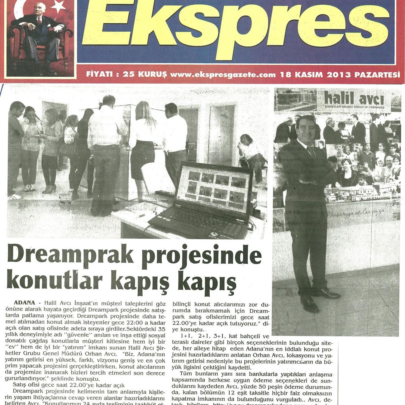 Dreampark projesinde konutlar kapış kapış – Express
